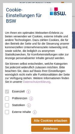 Vorschau der mobilen Webseite www.bsw.de, BSW. Der BonusClub - BSW Verbraucher-Service GmbH