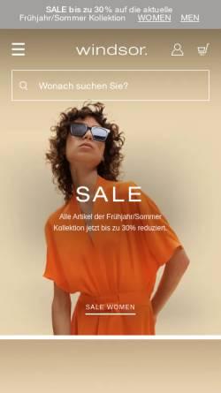Vorschau der mobilen Webseite www.windsorcollection.de, Windsor GmbH