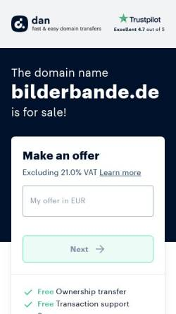 Vorschau der mobilen Webseite www.bilderbande.de, Bilderbande