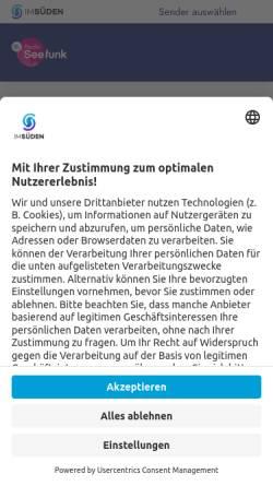Vorschau der mobilen Webseite www.dasneueradioseefunk.de, Radio Seefunk