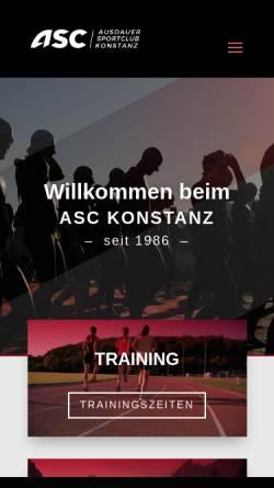 Vorschau der mobilen Webseite asc-konstanz.de, ASC-Konstanz e.V.