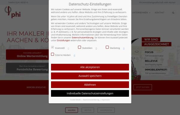 Vorschau von www.phi24.de, PH Immobiliengesellschaft mbH
