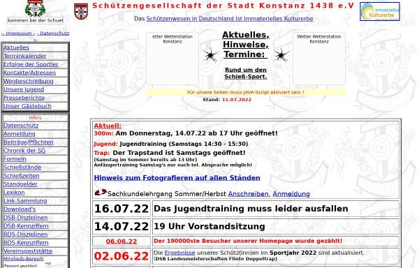 Vorschau von www.sgkonstanz.de, Schützengesellschaft der Stadt Konstanz 1438 e.V.