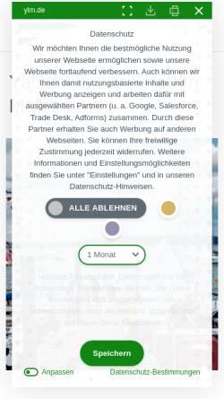 Vorschau der mobilen Webseite www.ylm.de, Yachtclub Litzelstetten Mainau e.V.