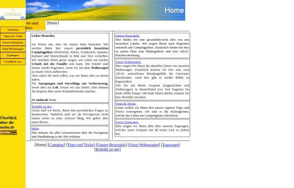 Vorschau von www.moho.de, Campen mit der Famile