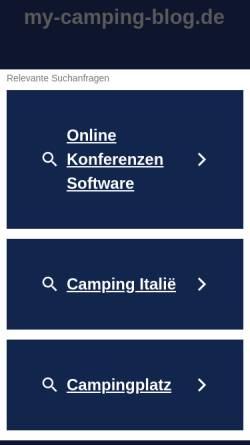 Vorschau der mobilen Webseite www.my-camping-blog.de, Camperblog für Urlaub der Spass macht