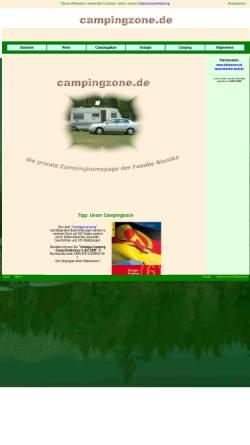 Vorschau der mobilen Webseite www.campingzone.de, Campingpage der Fam. Blontke