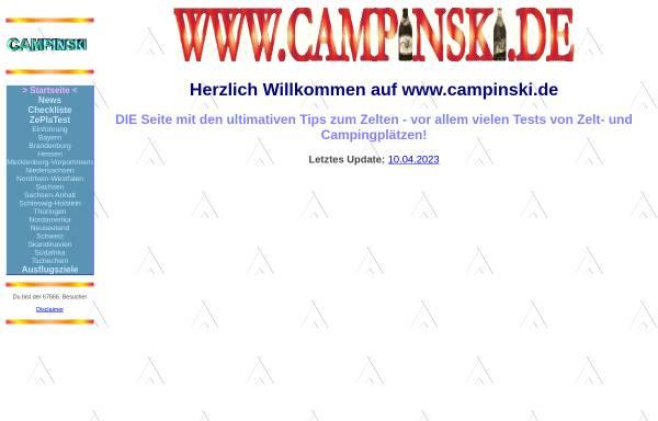 Vorschau von www.campinski.de, Campinski, die Zeltplatz-Artisten-Familie
