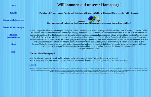 Vorschau von www.thomasirsch.de, Familie und ihre Campingerlebnisse
