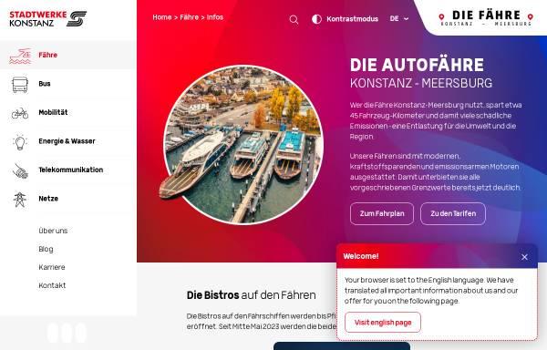 Vorschau von www.faehre-konstanz.de, Fahrpläne in und um Konstanz