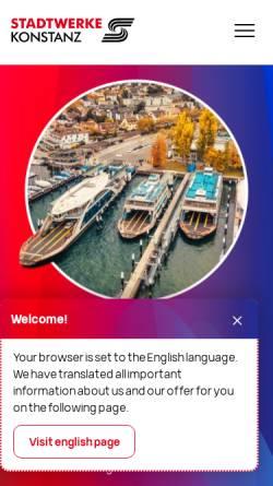 Vorschau der mobilen Webseite www.faehre-konstanz.de, Fahrpläne in und um Konstanz