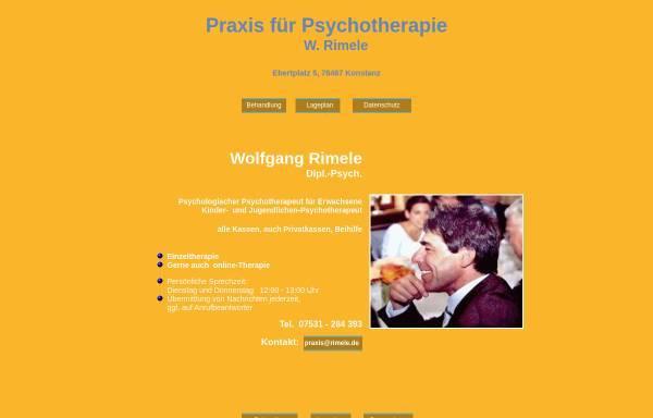 Vorschau von www.rimele.de, Psychologischer Psychotherapeut Wolfgang Rimele