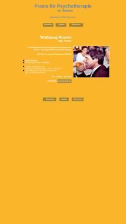 Vorschau der mobilen Webseite www.rimele.de, Psychologischer Psychotherapeut Wolfgang Rimele