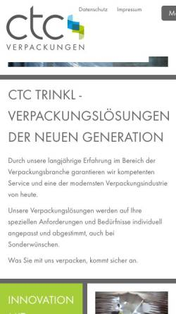 Vorschau der mobilen Webseite www.ctc-trinkl.de, A. Trinkl GmbH
