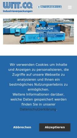 Vorschau der mobilen Webseite www.awico.com, A.Witt + Co. GmbH