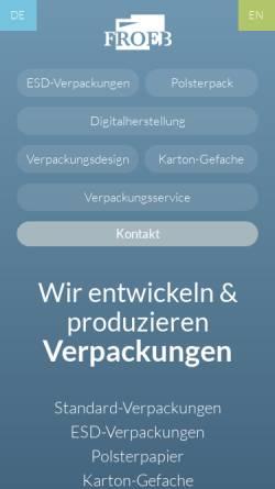 Vorschau der mobilen Webseite www.froeb-verpackungen.de, Froeb-Verpackungen GmbH