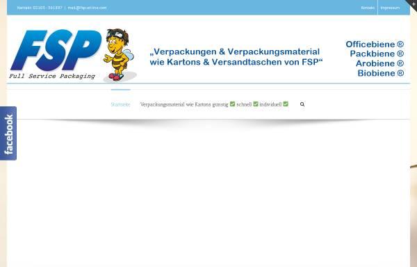 Vorschau von www.fsp-online.com, Full Service Packing, Inh. Sabine Rother