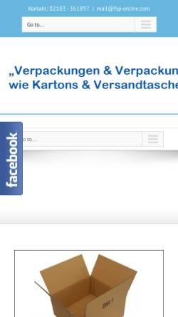 Vorschau der mobilen Webseite www.fsp-online.com, Full Service Packing, Inh. Sabine Rother