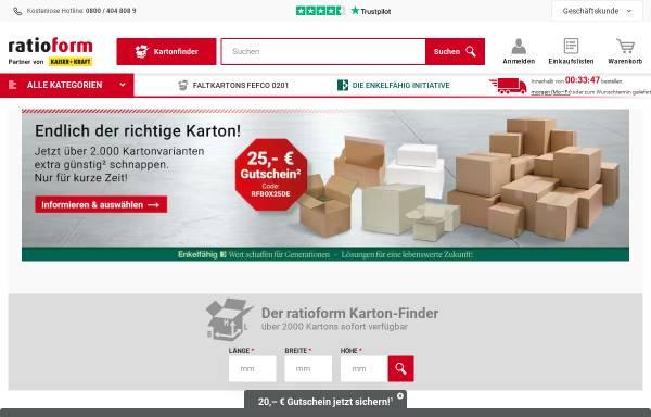 Vorschau von www.ratioform.de, Ratioform Verpackungsmittel GmbH