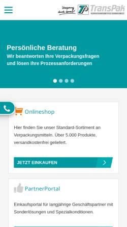 Vorschau der mobilen Webseite www.transpak.de, TransPak AG