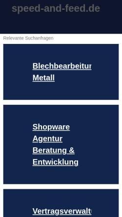 Vorschau der mobilen Webseite www.speed-and-feed.de, speed & feed