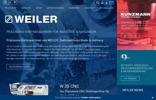Vorschau von www.weiler.de, Weiler Werkzeugmaschinen GmbH
