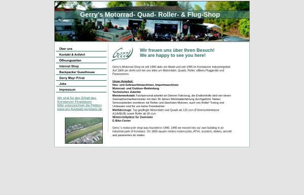 Vorschau von www.gerry-de.com, Gerrys Motorrad Shop