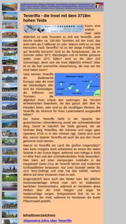 Vorschau der mobilen Webseite www.urlaube.info, Urlaub auf der Trauminsel Teneriffa