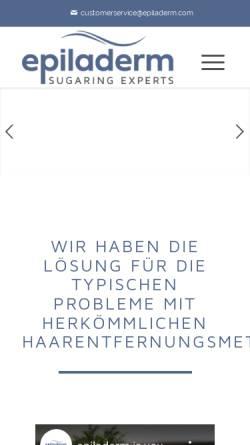 Vorschau der mobilen Webseite www.epiladerm.de, Danlab Ltd.