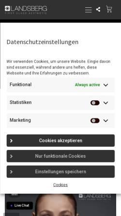 Vorschau der mobilen Webseite www.laserwelt.com, Pulslicht- und Nadelepilation