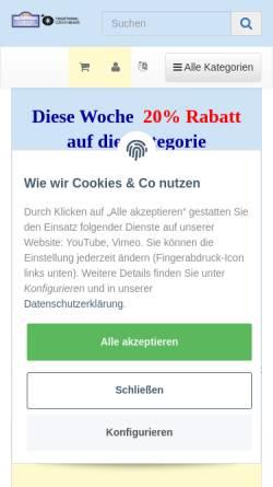 Vorschau der mobilen Webseite www.perlen-contor-stricker.de, Perlen-Contor