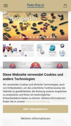 Vorschau der mobilen Webseite www.perlen-shop.ch, Perlen-Shop