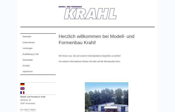 Vorschau von www.krahl.de, Ekkehart Krahl - Modell- und Formenbau