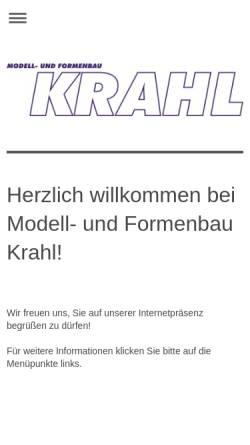 Vorschau der mobilen Webseite www.krahl.de, Ekkehart Krahl - Modell- und Formenbau