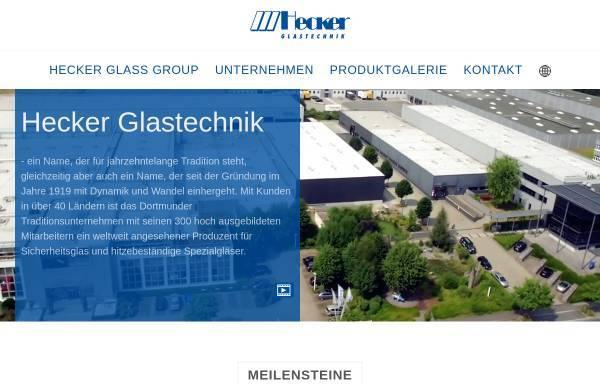 Vorschau von www.glas.hecker.de, Glastechnik Hecker GmbH & Co. KG