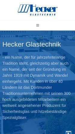 Vorschau der mobilen Webseite www.glas.hecker.de, Glastechnik Hecker GmbH & Co. KG