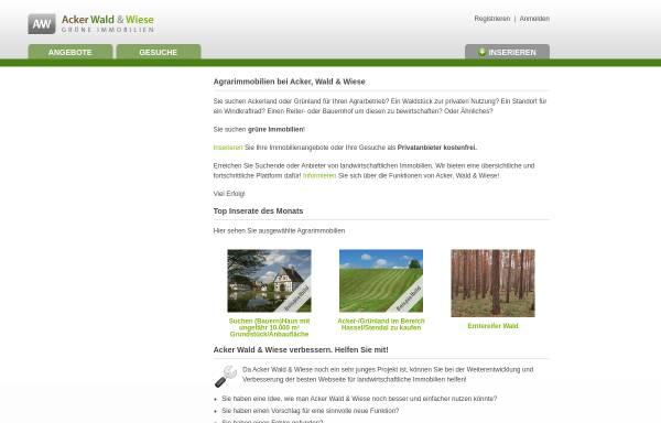 Vorschau von www.ackerwaldundwiese.de, AckerWald&Wiese, Ina Silber