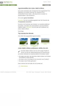 Vorschau der mobilen Webseite www.ackerwaldundwiese.de, AckerWald&Wiese, Ina Silber