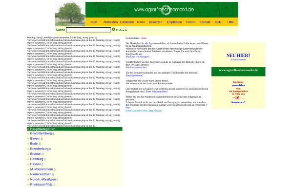 Vorschau von www.agrarflaechenmarkt.de, Agrarflächenmarkt -Jürgen Simon