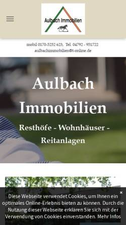 Vorschau der mobilen Webseite www.aulbach-immobilien.de, Aulbach Immobilien