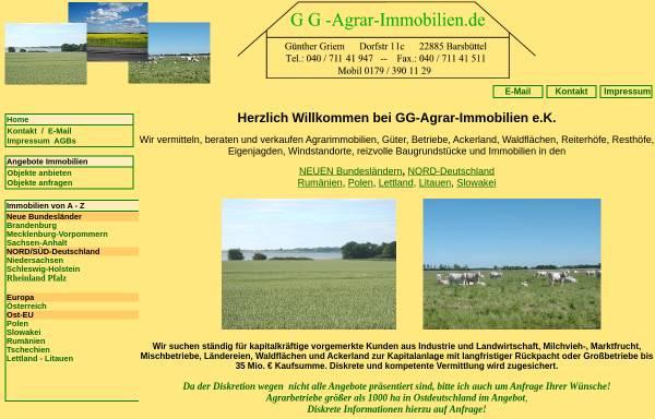 Vorschau von www.gg-agrar-immobilien.de, GG-Agrarimmobilien