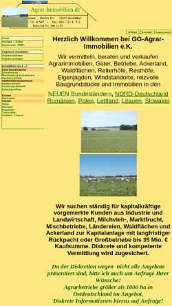 Vorschau der mobilen Webseite www.gg-agrar-immobilien.de, GG-Agrarimmobilien