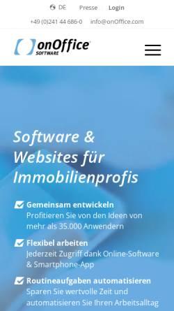 Vorschau der mobilen Webseite de.onoffice.com, onOffice GmbH
