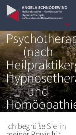 Vorschau der mobilen Webseite www.hp-ulm.de, Angela Schnödewind - Praxis für Klassische Homöpathie