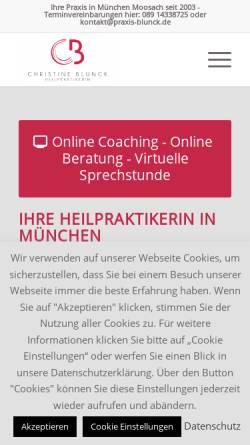 Vorschau der mobilen Webseite www.praxis-blunck.de, Praxis Christine Blunck