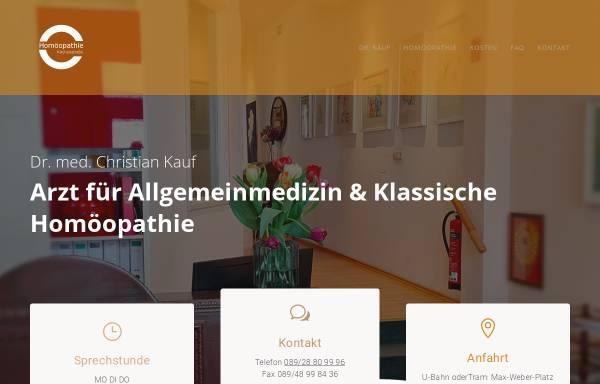 Vorschau von www.dr-kauf.de, Dr. med. Christian Kauf
