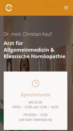 Vorschau der mobilen Webseite www.dr-kauf.de, Dr. med. Christian Kauf