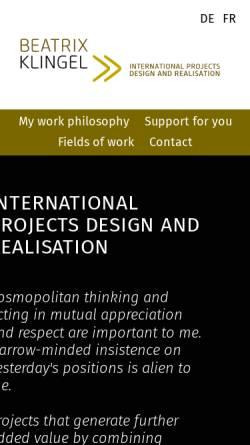Vorschau der mobilen Webseite www.beatrixklingel.de, Klingel Consult oHG