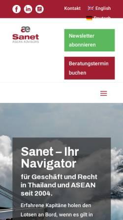 Vorschau der mobilen Webseite www.sanet.eu, Sanet GmbH