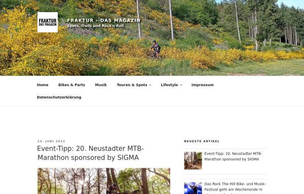 Vorschau von www.fraktur-magazin.de, Fraktur